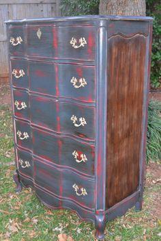 vintage distressed dresser