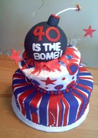 40th Birthday Cake. coolest. I'm trying to think of friends who are 39.
