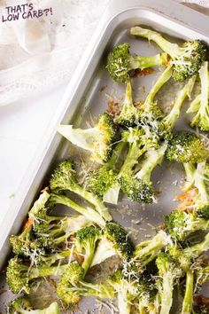 Low Carb Oven Roasted Broccoli Recipe by That's Low Carb?! Healthy Dinner Recipes, Low Carb Recipes, Diet Recipes, Vegetarian Recipes, Summer Recipes, Roasted Broccoli Recipe, Broccoli Recipes, Low Carb Vegetables, Veggies