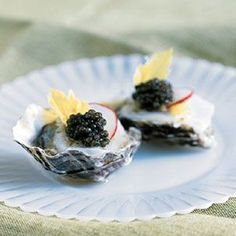 #Oysters on the Half-Shell with Scallops, Horseradish, Lime and Golden Osetra Caviar