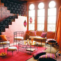 Bright Moroccan Living room