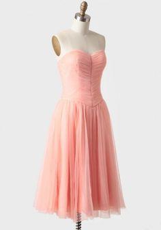 Peach Perfection Tulle Dress | Modern Vintage Dresses | Modern Vintage Clothing