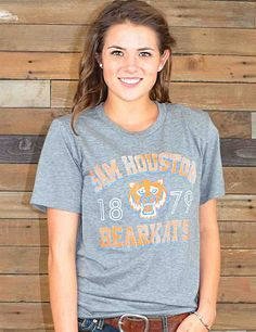 Bearkat Nation! This ultra soft SHSU tee is the perfect shirt for you! Grab one now to show your Sam Houston State pride!