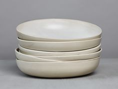 Dinerplate stoneware with silky soft white glaze.