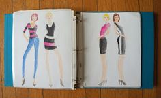fashion sketches // Hello Kelcey