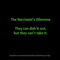 Narcissist dilemma