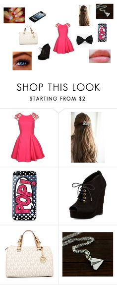 """""""Untitled #106"""" by madisonnetz ❤ liked on Polyvore featuring Forever Unique, Skinnydip, Diane Von Furstenberg, Michael Kors and Revlon"""