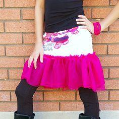 T-Shirt to Skirt Refashion