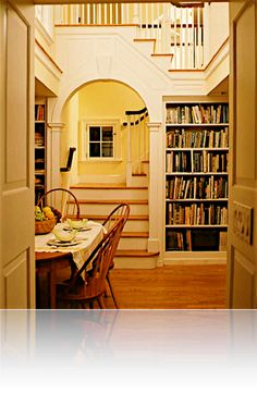 Love the arch at the bottom of the stairs! :) 6 easy ways to create an intimate, cozy home