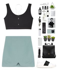 """""""Teal"""" by f-resh ❤ liked on Polyvore featuring Miss Selfridge, Valentino, Samsung, NARS Cosmetics, Byredo, Aesop, Le Labo, Daniel Wellington, Clinique and Korres"""