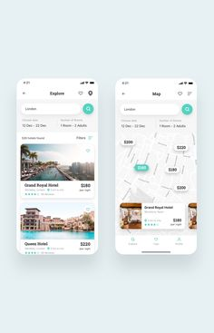 Roome Hotel Booking App UI Kit is a pack of 28 delicate UI design screen templates that will help you to design clear interfaces for hotel booking app faster and easier. File includes all recent Sketch App features such as Symbols or Components, Text, and Web Design, Ios App Design, Hotel Booking App, Hotel App, Ui Kit, Conception D'interface, App Map, Ui Design Mobile, App Design Inspiration