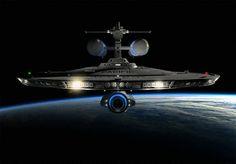 The first warp 7 class ships of Starfleet. Star Trek Rpg, New Star Trek, Star Trek Ships, Spaceship Art, Spaceship Concept, Alien Ship, Starfleet Ships, Ship Of The Line, Star Trek Starships