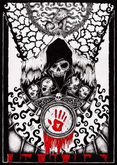 Skyrim: Dark Brotherhood by inkarts on DeviantArt Elder Scrolls Lore, Elder Scrolls Skyrim, Fantasy Rpg, Dark Fantasy Art, Skyrim Tattoo, Skyrim Game, Scrolls Game, Dark Brotherhood, Unique Poster
