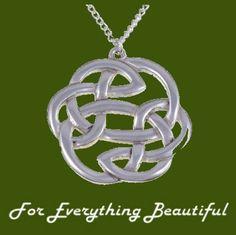 Celtic Lughs Knotwork Design Large Stylish Pewter Pendant