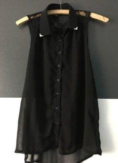 Kaufe meinen Artikel bei #Kleiderkreisel http://www.kleiderkreisel.de/damenmode/blusen/142611022-schwarze-bluse-mit-spitze-in-xs