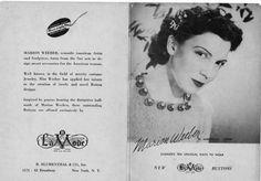 ButtonArtMuseum.com - Marion Weeber Celluloid Buttons: Vintage Magazine Advert