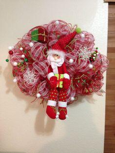 Christmas Santa wreath