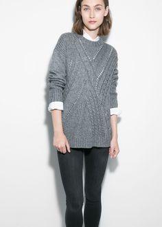 mango, Modal wool-blend sweater