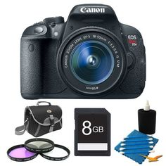 Canon EOS Rebel T5i 18.0 MP CMOS Digital SLR with 18-55mm EF-S IS STM Lens Deluxe Gift Pack- Includes camera and...