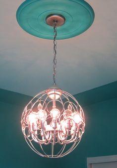 Hanging baskets, Light fixtures and Diy light fixtures