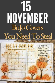 These are the best November Bullet Journal Covers that I could find this year for this crisp and cold last month of Fall. We've left Canadian Thanksgiving behind and get to look forward to American Thanksgiving now! Click to read more.