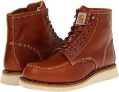 Carhartt 6 Moc Toe Wedge Boot Men's Work Boots Tan : 9 D - Medium