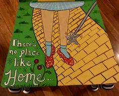 Post with 117 views. Painted Wizard of Oz Chair Disney Canvas Paintings, Canvas Painting Projects, Diy Painting, Acrylic Paintings, Wizard Of Oz Decor, Cute Canvas, Stone Painting, Rock Painting, Painted Chairs