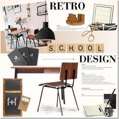 """""""Retro School Design"""" by anna-anica on Polyvore"""