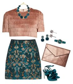 """""""Untitled #1301"""" by renisin on Polyvore featuring Raey, Marco de Vincenzo, NEST Jewelry, Anne Klein, Rebecca Minkoff, Henry London and Jennifer Behr"""
