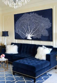 New Living Room Sectional Decor Rugs Ideas Blue Living Room Decor, Living Room White, Living Room Colors, Living Room Paint, Living Room Sofa, Rugs In Living Room, Living Room Designs, Apartment Living, Apartment Couch