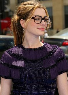 Celebrities with Glasses - Anne Hathaway