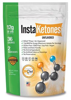 InstaKetones® 12g GoBHB® +Calcium Per Scoop (Unflavored) (90 Servings) Exogenous Ketones (2.83 lbs)