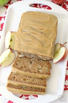 Selecting The Suitable Cheeses To Go Together With Your Oregon Wine Caramel Apple Bread Bursting With Fresh Apple, Spiced With Cinnamon And Nutmeg, Then Topped With An Incredible 3 Ingredient Caramel Glaze Topping. Simple Quick Bread Recipe From But Apple Desserts, Apple Recipes, Just Desserts, Sweet Recipes, Cake Recipes, Dessert Recipes, Bread Recipes, Cooking Bread, Bread Baking