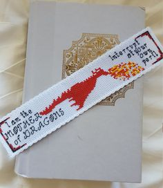 Mother of Dragons Bookmark Cross Stitch Pattern, Game of Thrones Modern Counted…