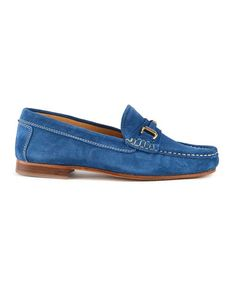 Bitty Blue Suede Loafer