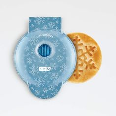 Dash Snowflake Printed Mini Waffle Maker   Crate and Barrel Outdoor Pizza Oven Kits, Christmas Kitchen, Small Kitchen Appliances, Crate And Barrel, Stocking Stuffers, Crates, Snowflakes, Make It Yourself, Mini