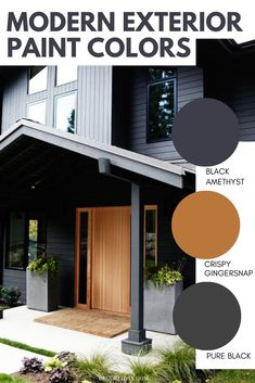The best modern exterior paint color stories to paint your home's exterior. Pick from these great color combinations. Best Exterior Paint, House Paint Exterior, Exterior Paint Colors, Modern Exterior, Exterior Paint Color Combinations, Modern Color Schemes, Color Stories, House Painting, Modern Architecture