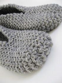 AnnyMay Le Blog: Pantoufle facile au tricot