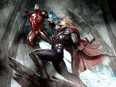 Iron Man VS. Thor by Adi Granov