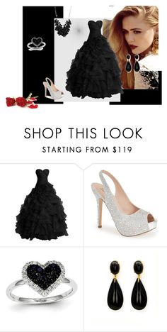 """""""BLACK AND WHITE"""" by habibakenawy on Polyvore featuring Lauren Lorraine, Kevin Jewelers, Betty Jackson, women's clothing, women's fashion, women, female, woman, misses and juniors"""