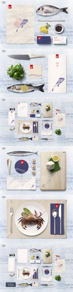 #Free #Fish & Seafood #Restaurant #Identity #Mockup