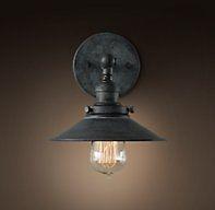 Harbor sconce weathered zinc sdb lampes ext rieur et for Luminaire exterieur zinc