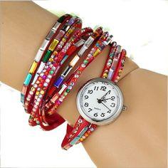 NEW Fashion Strip Bracelet Watch (Color: Red) | To save upto 45% visit our website  uniquefashionusa.com