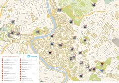 Map of Rome attractions | Tripomatic.com