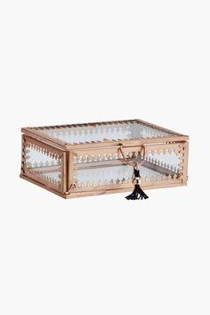 Boîte en verre cuivrée