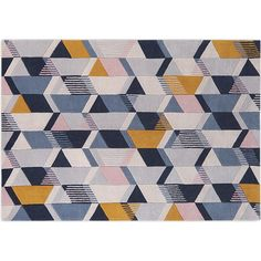 Ava Large Geometric Hand Tufted Wool Rug 160 x 230cm, Tonal Blue from Made.com. NEW *Sigh*. That was our reaction when we first saw this gorgeous ru..