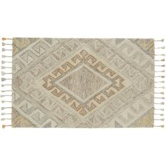"""<span class=""""copyHeader"""">fab fade. </span> Faded graphic rug rolls out in tonal grey with hints of orange and yellow creating concentric diamonds on a natural cream field. Hand-tufted of 100% New Zealand wool, shag offers extra-plush pile comfort, one-of-a-kind style and hand-braided tassels to finish.<br /><br />How will it look in your room? 12""""x12"""" rug samples are available in <a href=""""/stores/"""">stores</a> for a fee refundable upon return of the sample.<br /><br…"""