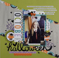 Bella Blvd Halloween Magic collection. Halloween layout by creative team member Becki Adams.