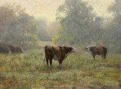 """Spring Morning"" by Roger Dale Brown, Nashville-born contemporary plein air artist"