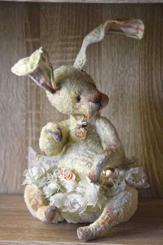 """Donoteya By Natasha Murasha - NEW PatternAttention! Dear friends, recently I live in Slovenia :). Sending toys 2 times a week. Thursday and Monday. Sometimes sending time may be different. Thank you very much for your love.NEW Artist teddy bear """" Donoteya""""30 cm without ears (not standing). s..."""